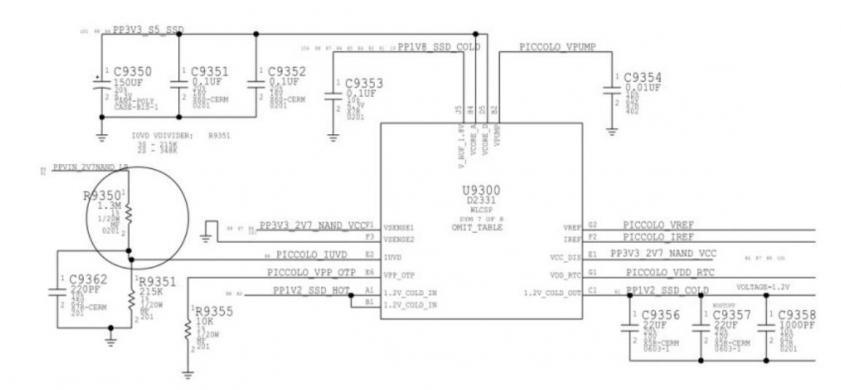 תיקון את מעגל ההספק של שבב SSD במחשב מקבוק