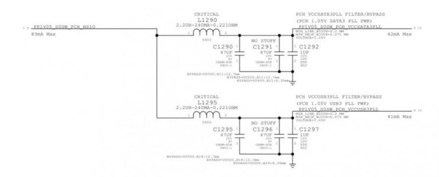 תיקון של מעגל ההספק של שבב PCH של אינטל במק